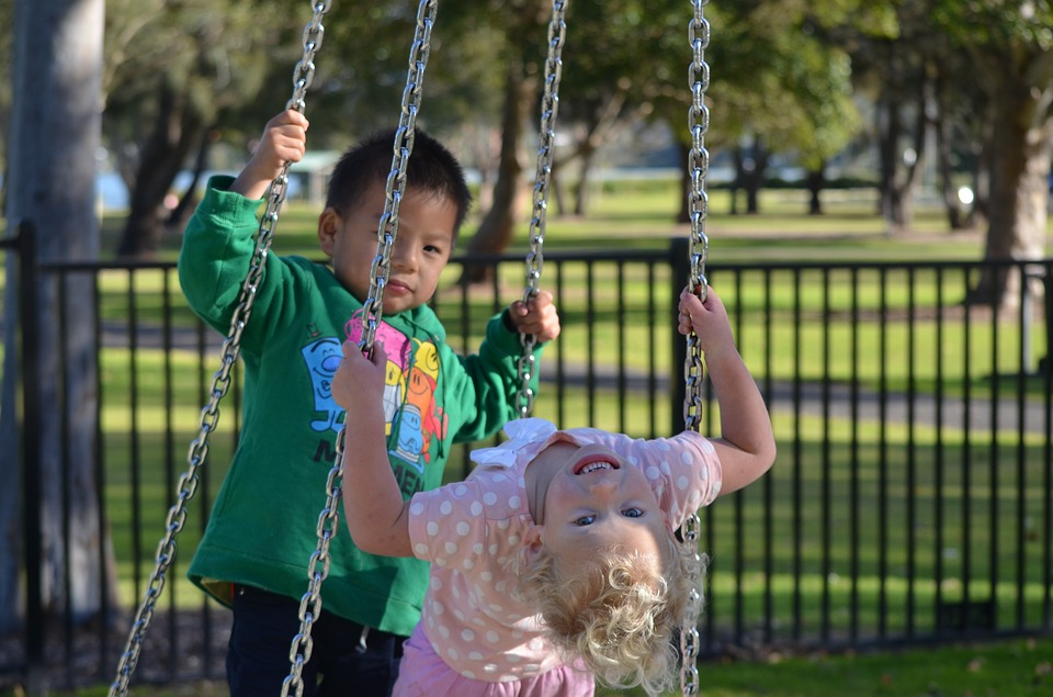 al parco con i bambini